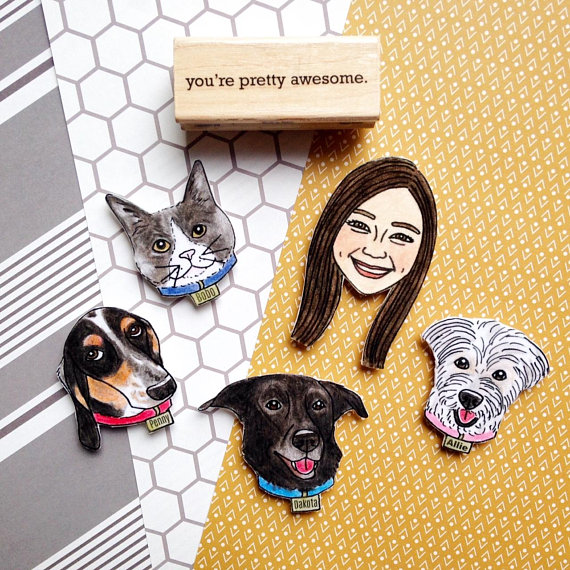 Custom Pet Magnet from KitAtlas   Celebrate with 8 for National Pet Day   Bottom Left of the Mitten