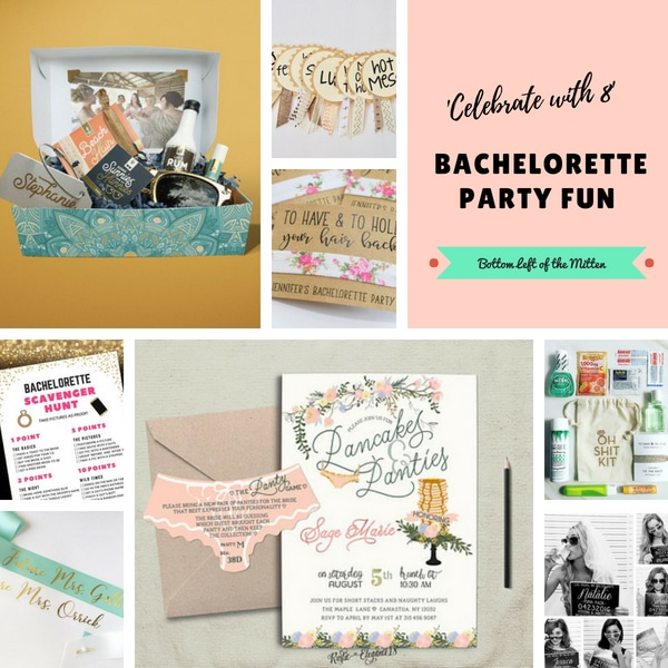'Celebrate with 8' Bachelorette Party Fun | Bottom Left of the Mitten