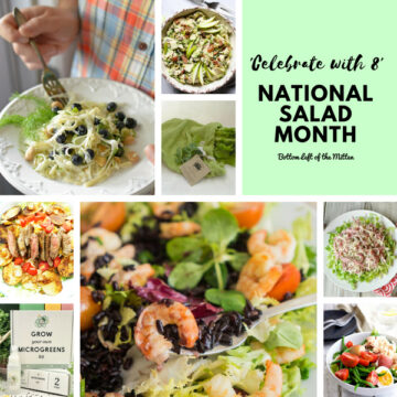 'Celebrate with 8' National Salad Month | Bottom Left of the Mitten
