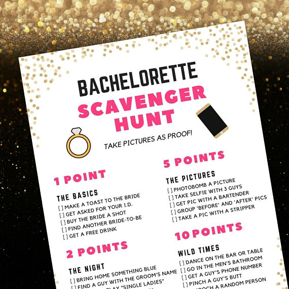 Bachelorette Scavenger Hunt Game from TheSwagElephant | 'Celebrate with 8' Bachelorette Party Fun | Bottom Left of the Mitten