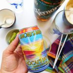 Shorts Brewing Locals Light American Lager with Vernors and other ingredients off to the side