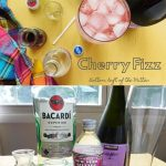 Views of Cherry Fizz cocktail