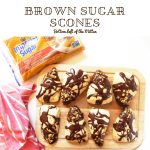 Brown Sugar Scones with Chocolate Drizzle | Bottom Left of the Mitten