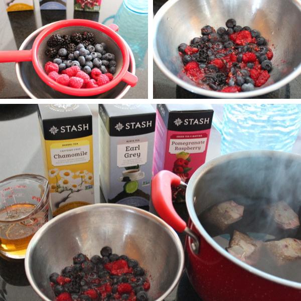 Ingredients for Berrylicious Sweet Tea