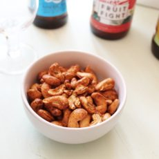 Air Fryer Rosemary Cashews | Bottom Left of the Mitten