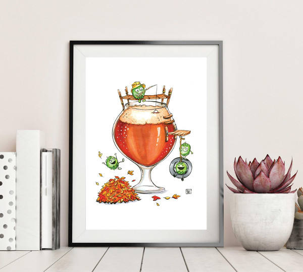 Hoppy Autumn Art Print  from Obillwon