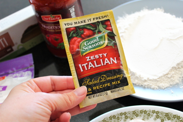 Zesty Italian spice mix for Zesty Cheesy Chicken dinner.