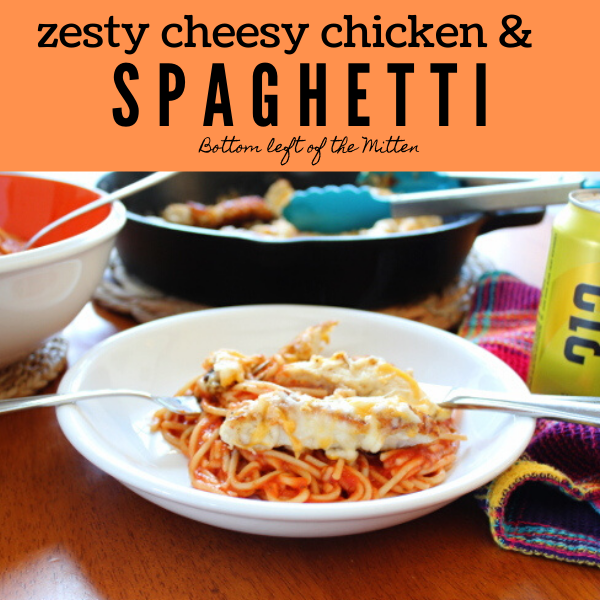 Zesty Cheesy Chicken and Spaghetti