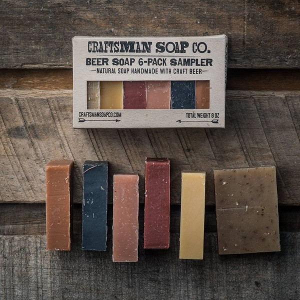 Beer Soap 6-Pack Sample Set from CraftsmanSoapCo
