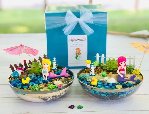 Mermaid Fairy Garden Kit from PartynWithPlants