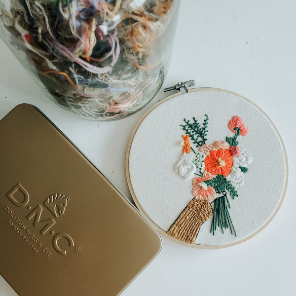 Floral DIY Embroidery Kit from SundayMorningsShop