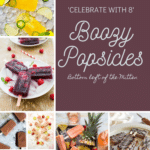 collage of boozy Popsicle recipes