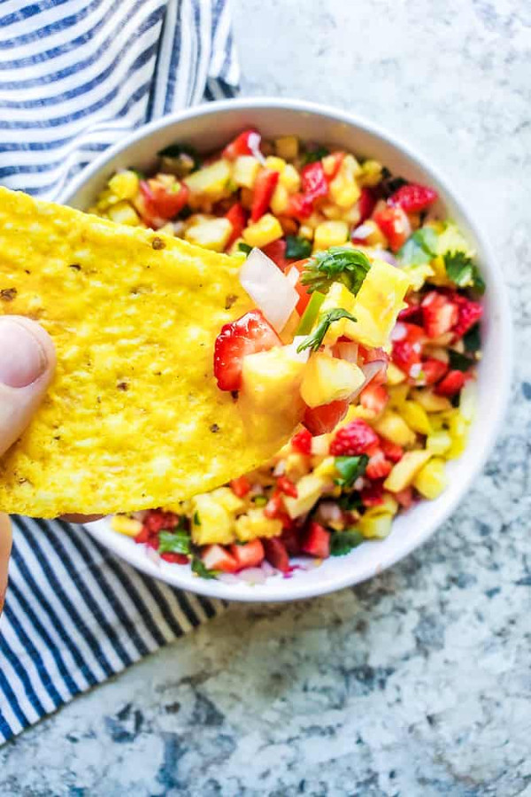 Strawberry Pineapple Salsa