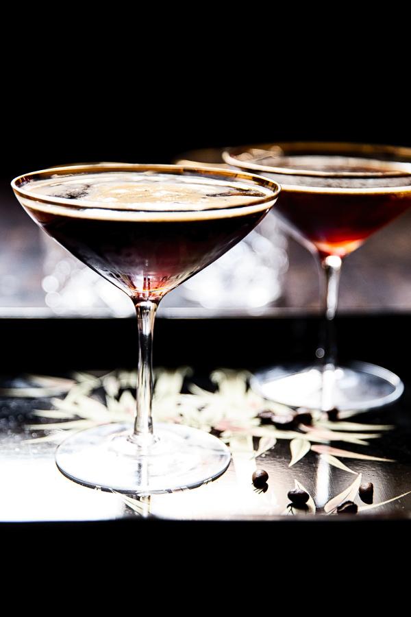 side shot of an espresso martini