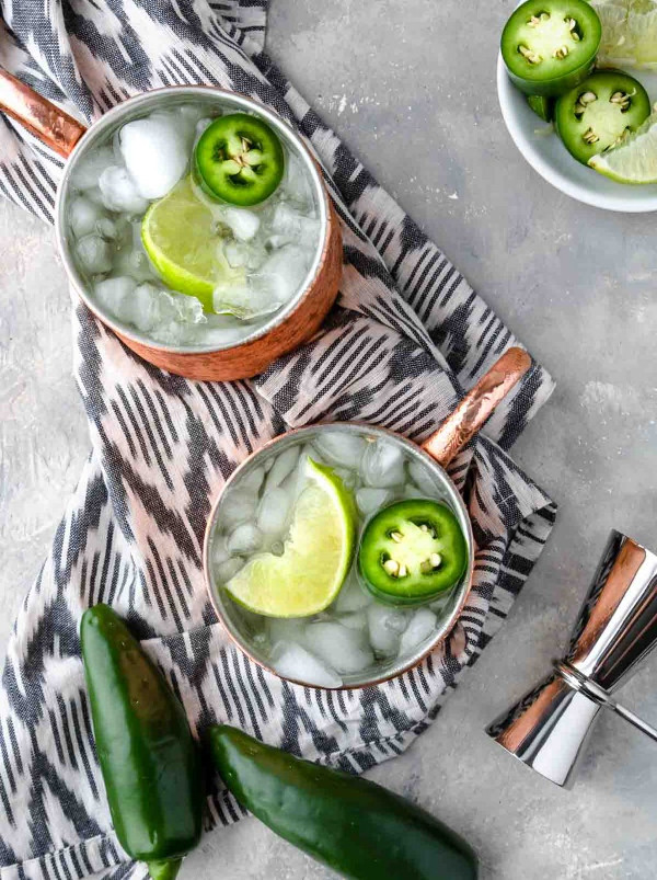 styled shot of a tequila moscow mule