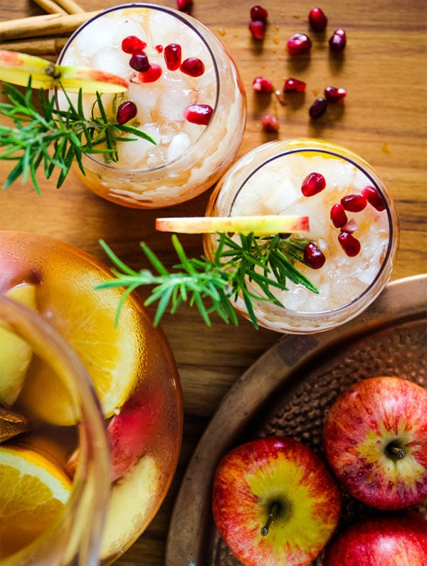 staged image of a Autumn Harvest Sangria