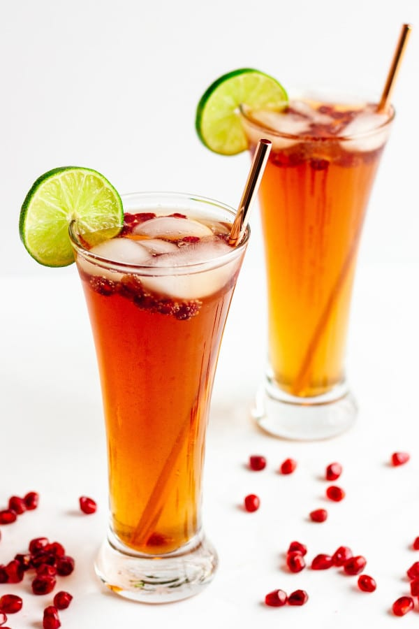 staged image of POMEGRANATE LIME SPRITZER
