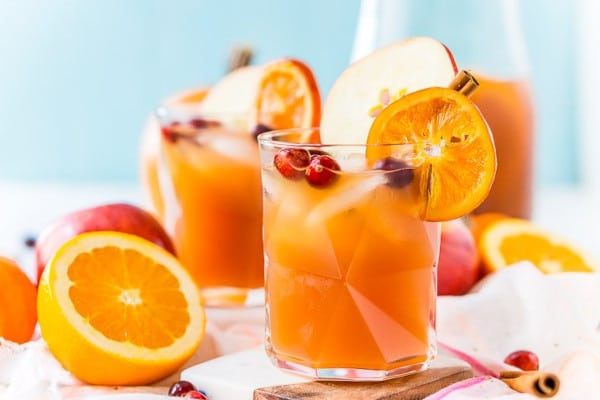 staged image of Thanksgiving punch recipe