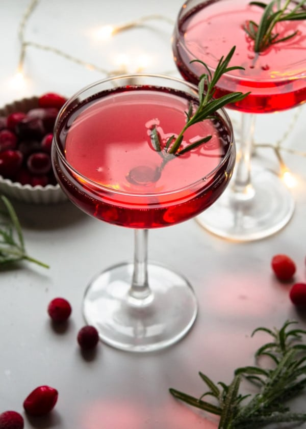 styled shot of a Santa's Spritz Christmas Cocktail